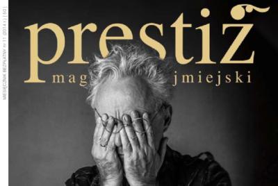 """Okładka magazynu """"Prestiż"""", numer 11/2014"""
